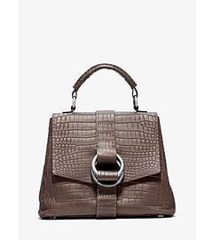 Julie Nile Crocodile Large Top Handle Tote
