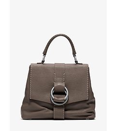 Julie Leather Large Top Handle Bag