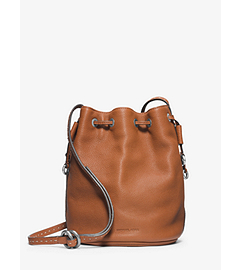 Julie Drawstring Leather Small Crossbody