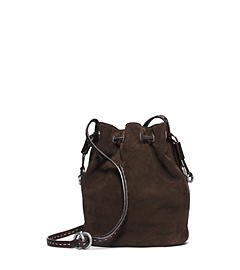 Julie Drawstring Suede Small Crossbody
