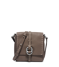 Julie Double-Ring Leather Mini Crossbody