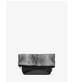 Judith Broadtail Fur Fold-Over Clutch