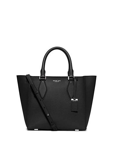 Gracie Medium Leather Tote by Michael Kors