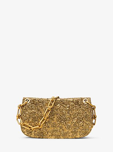 Goldie Metallic Brocade Shoulder Bag by Michael Kors