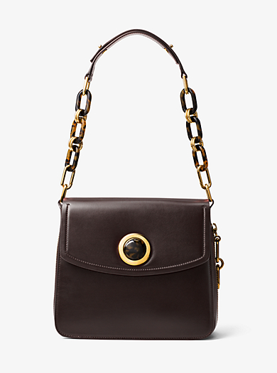 Goldie French Calf Leather Shoulder Bag by Michael Kors