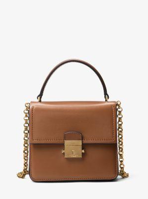 Mia Leather Shoulder Bag by Michael Kors