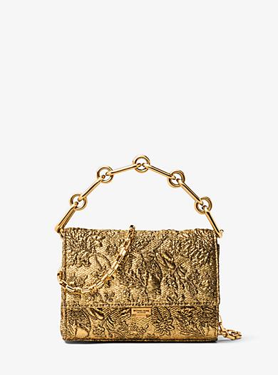 Yasmeen Small Metallic Brocade Clutch by Michael Kors