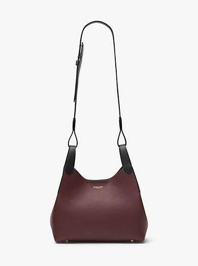 Daria Medium Leather Shoulder Bag by Michael Kors