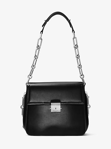 Mia French Calf Envelope Shoulder Bag by Michael Kors
