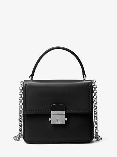 Mia French Calf Shoulder Bag by Michael Kors