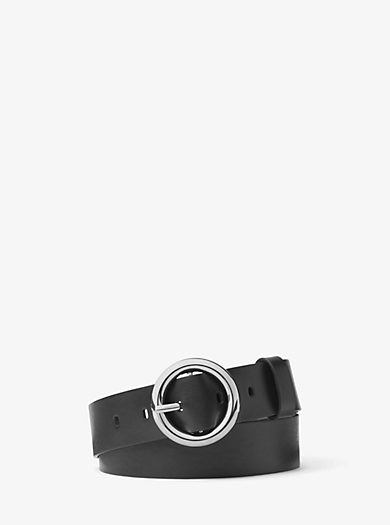 O-Ring Leather Belt by Michael Kors