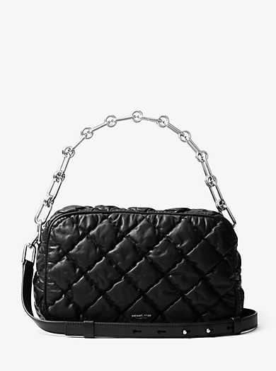 Julie Large Quilted-Leather Camera Bag by Michael Kors