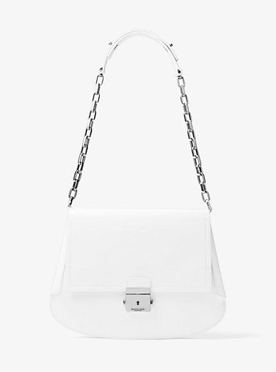 Mia French Calf Leather Envelope Shoulder Bag by Michael Kors