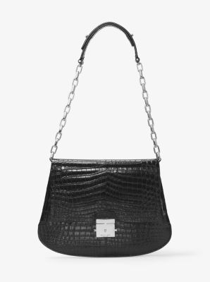Mia Crocodile Shoulder Bag by Michael Kors