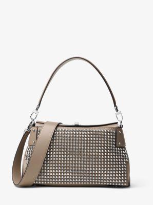 Miranda Medium Studded Leather Shoulder Bag by Michael Kors
