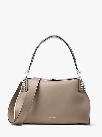 Miranda Large French Calf Leather Shoulder Bag by Michael Kors