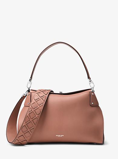 Miranda Large French Calf Leather Shoulder Bag by Michael Kors