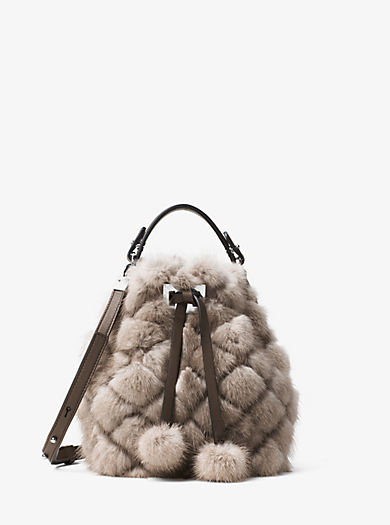 Miranda Extra-Small Quilted-Mink Crossbody by Michael Kors