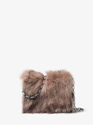 Yasmeen Fur Clutch by Michael Kors