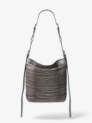 Michael Kors Naomi Extra-Large Leather Shoulder Bag,SLATE