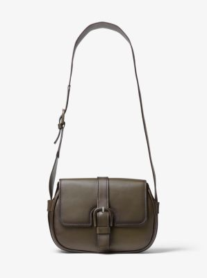 Michael Kors Romy Burnished Calf Leather Shoulder Bag