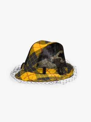 마이클 코어스 Michael Kors Tartan and Camo Veil Hat,MARIGOLD