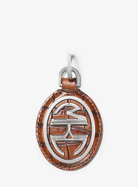 Porte-clés Monogramme en cuir à relief effet crocodile - VALISE(MARRON) - Michael Kors