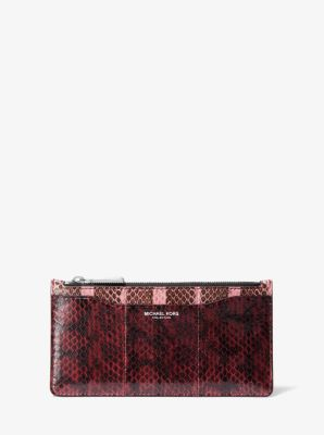 마이클 코어스 카드지갑 Michael Kors Large Tri-Color Snakeskin Card Case