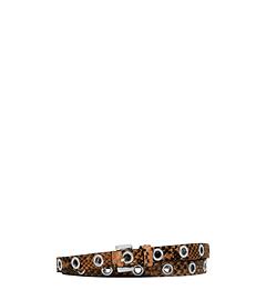 Double-Wrap Grommet Python Belt