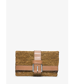 Janey Large Raffia Clutch
