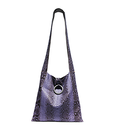 Janey Extra-Large Python Crossbody