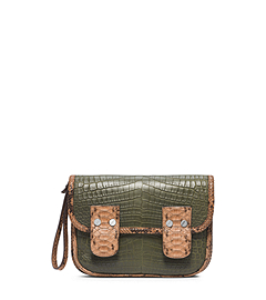 Taylor Large Crocodile Clutch