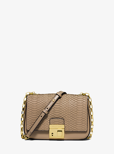 Gia Small Embossed-Leather Shoulder Bag by Michael Kors