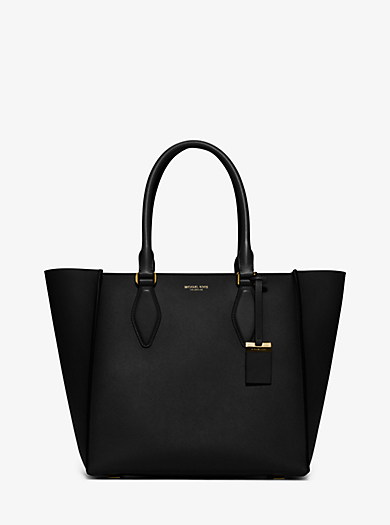 Gracie Large Leather Tote by Michael Kors