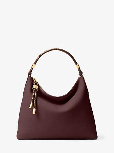 Skorpios Large Leather Shoulder Bag by Michael Kors