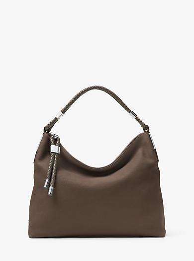 Skorpios Pebbled-Leather Shoulder Bag by Michael Kors