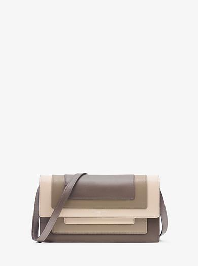 Surrey Medium Leather Clutch by Michael Kors