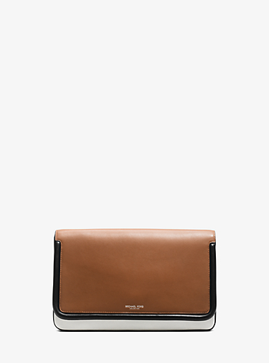 Tenby Leather Clutch by Michael Kors