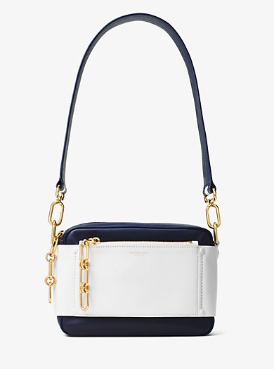 Julie Small French Calf Leather Camera Bag by Michael Kors