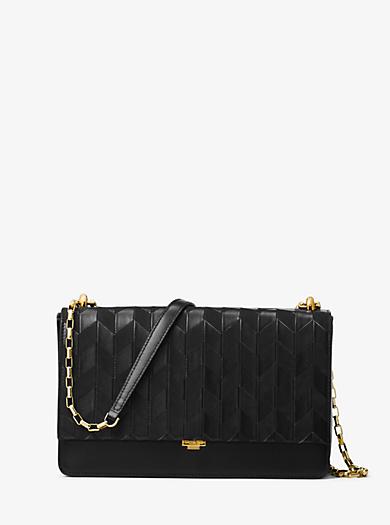 Yasmeen Medium Appliqué Leather Shoulder Bag by Michael Kors