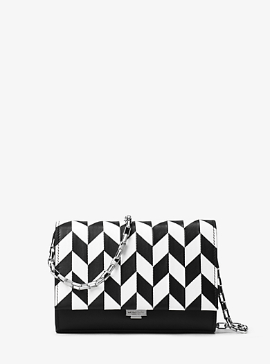 Yasmeen Small Appliqué Leather Clutch by Michael Kors