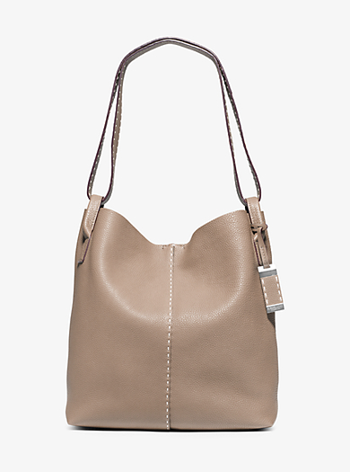 Rogers Large Leather Hobo by Michael Kors