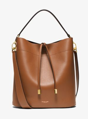 Miranda Large Leather Shoulder Bag  by Michael Kors