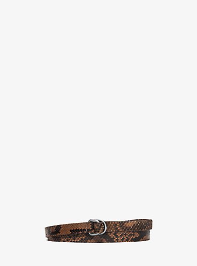 Double-Ring Python Belt  by Michael Kors