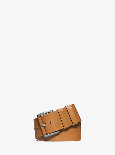 Wide Leather Belt  by Michael Kors