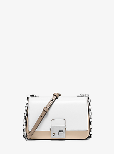 Gia Small Color-Block Leather Shoulder Bag by Michael Kors