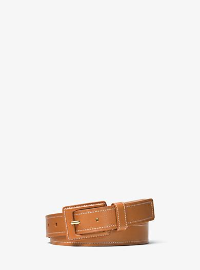 Vachetta Leather Belt by Michael Kors