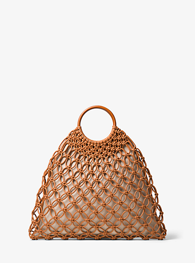 Cooper Woven Leather Tote by Michael Kors