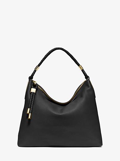 Skorpios Top-Zip Leather Shoulder Bag by Michael Kors