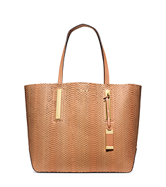 Jaryn Large Sueded-Snakeskin Tote